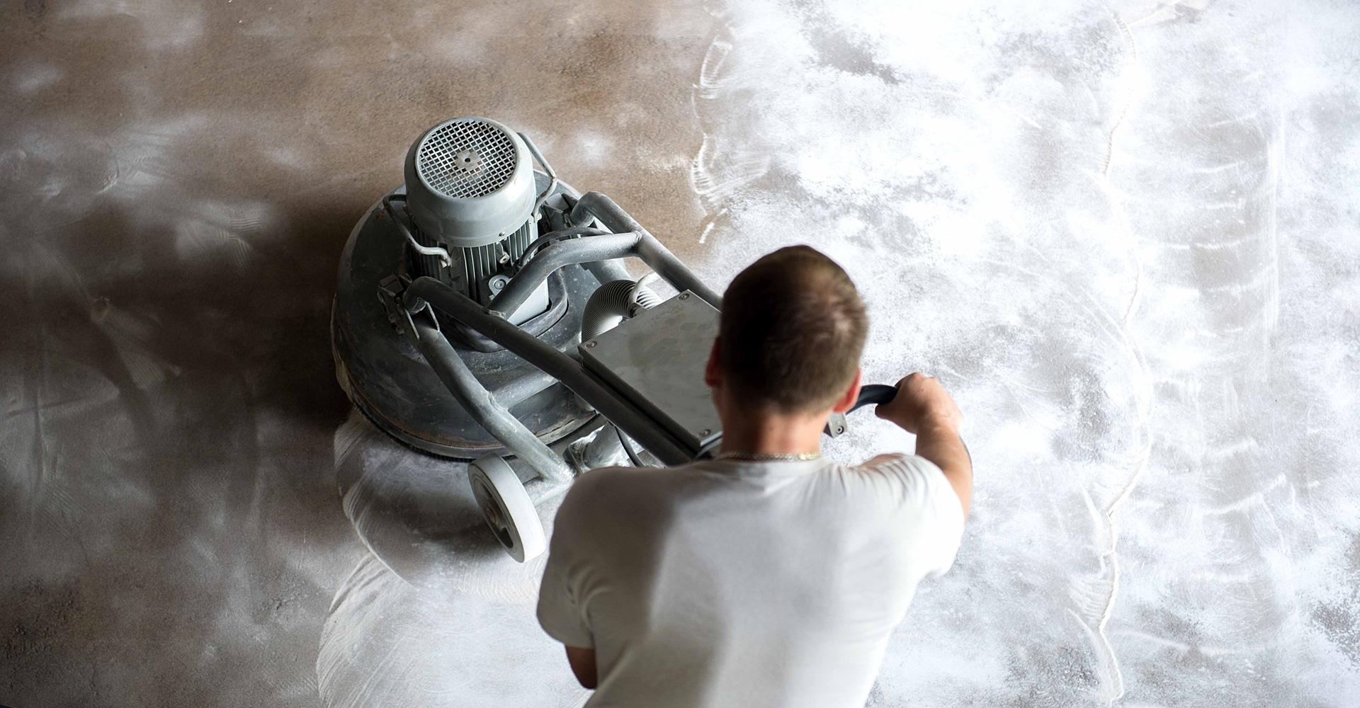 Gietvloer verwijderen machinaal