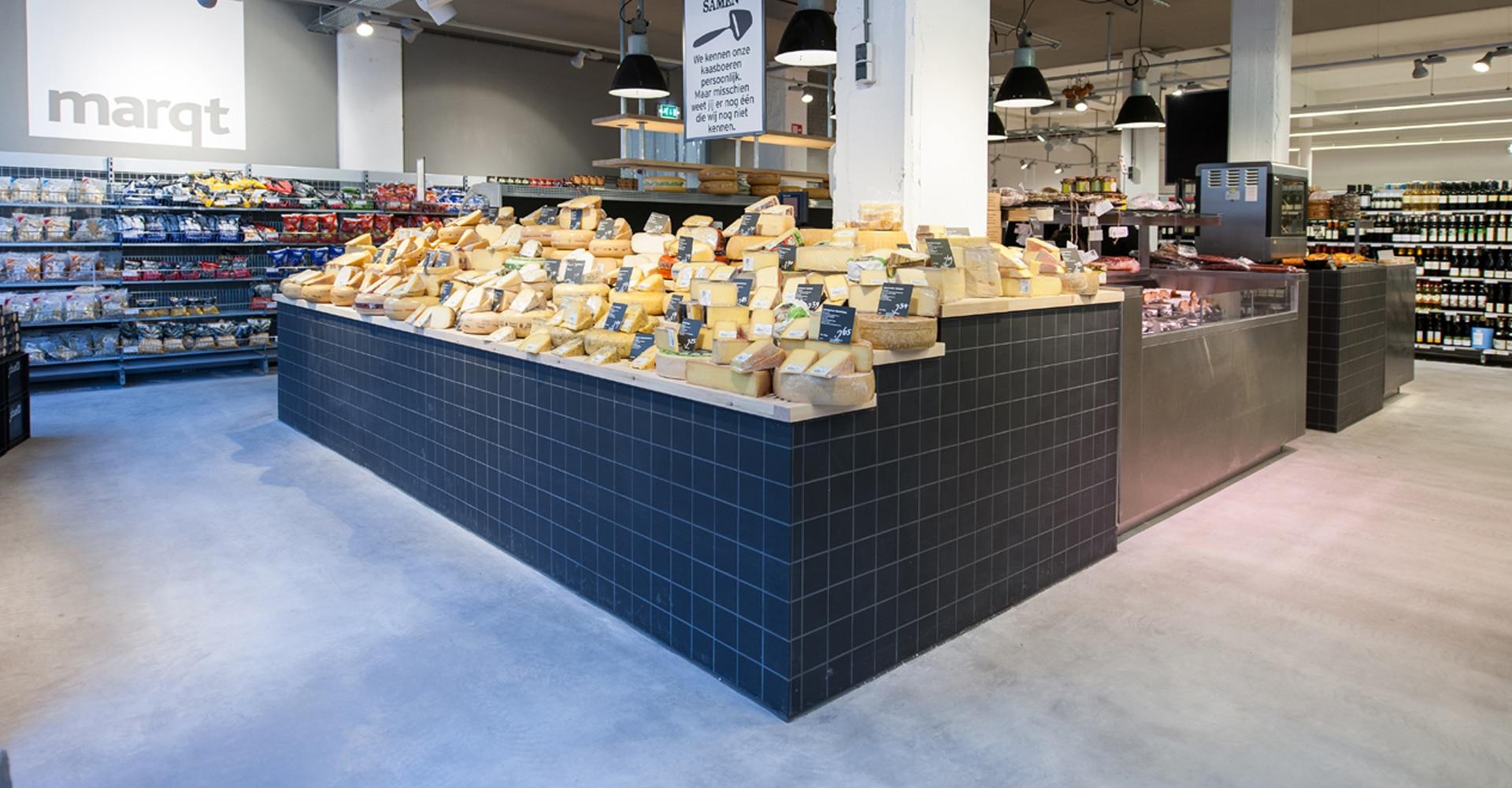 Supermarktvloer met betonvloer