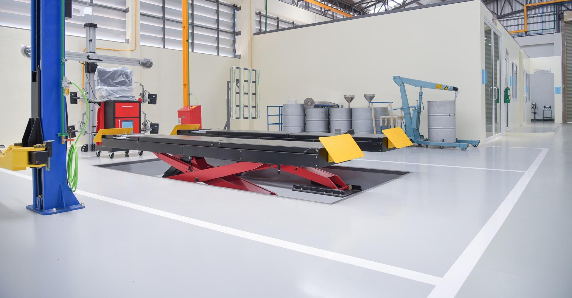 Werkplaatsvloer voor garage