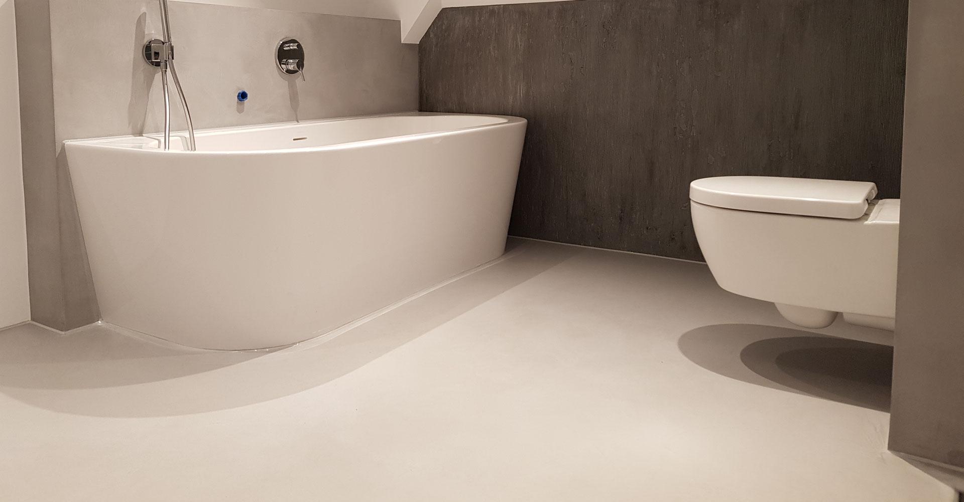 Gietvloer Amsterdam badkamer