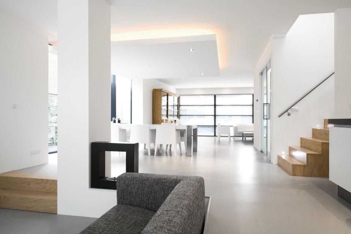 Gietvloer woonkamer design