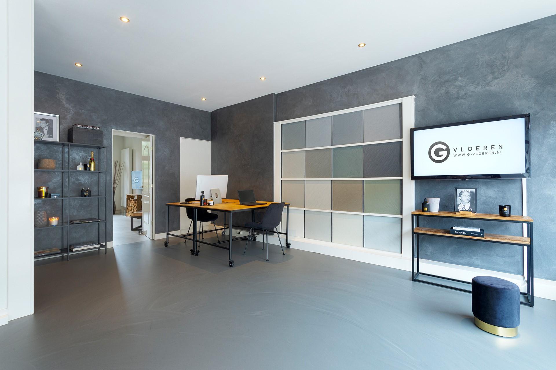 PU gietvloeren G-vloeren showroom