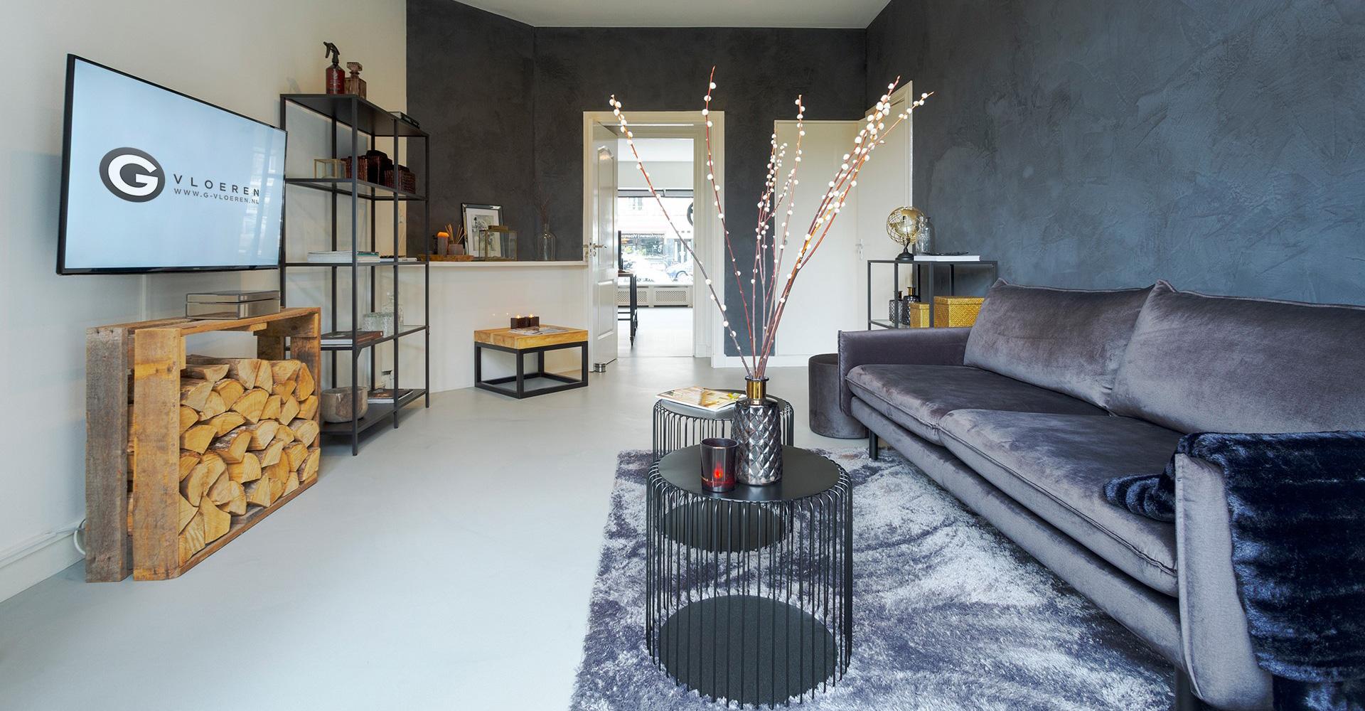 G-vloeren woonbeton showroom