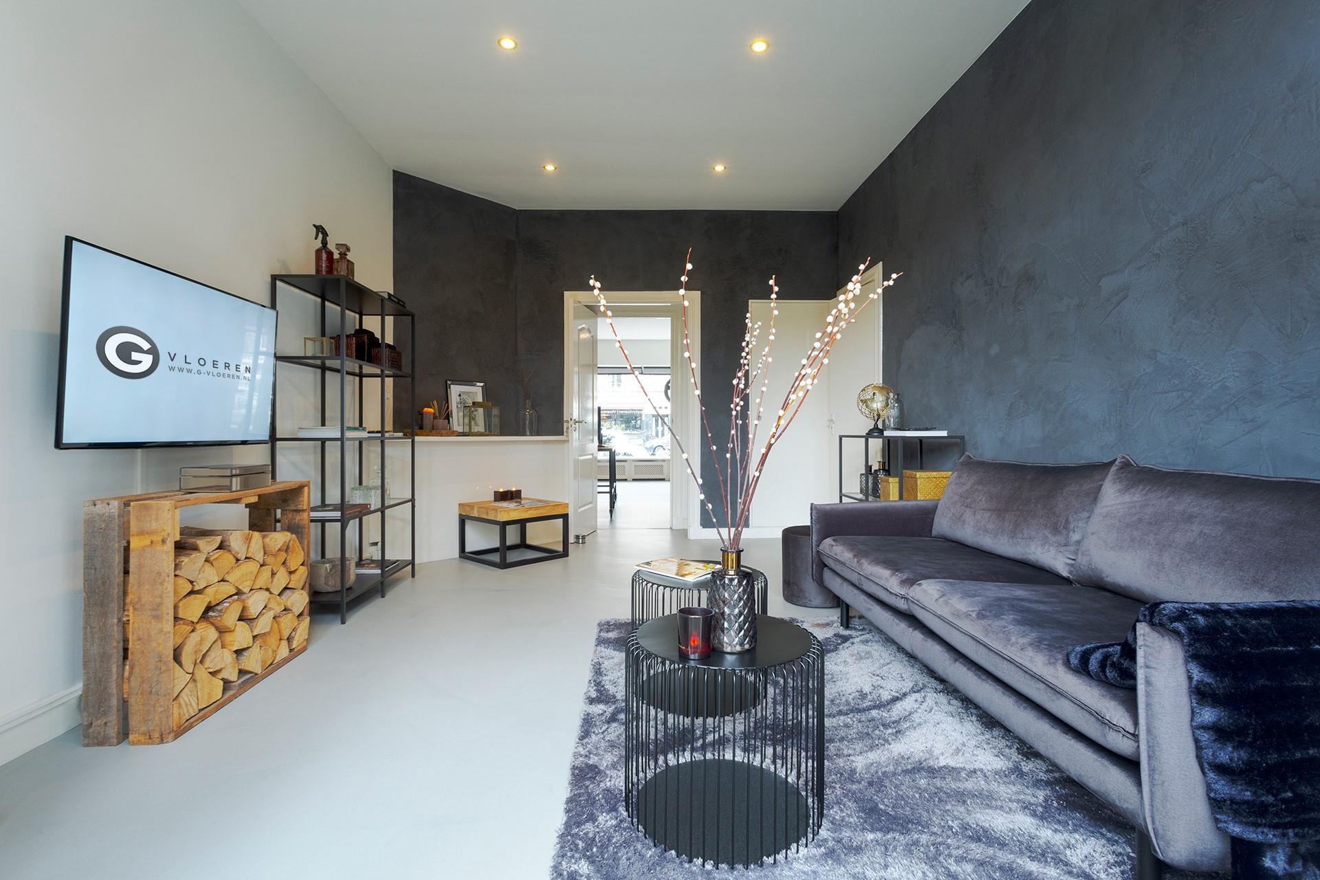 G-vloeren showroom woonbeton