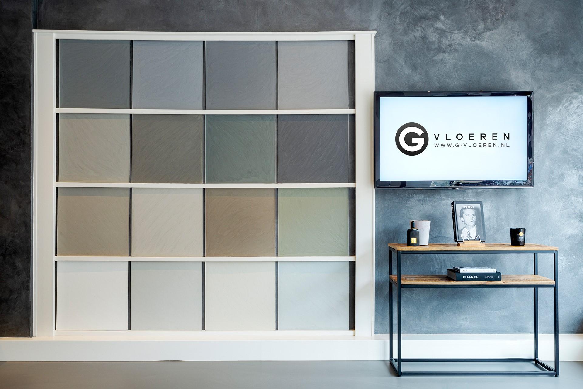 G-vloeren samples showroom