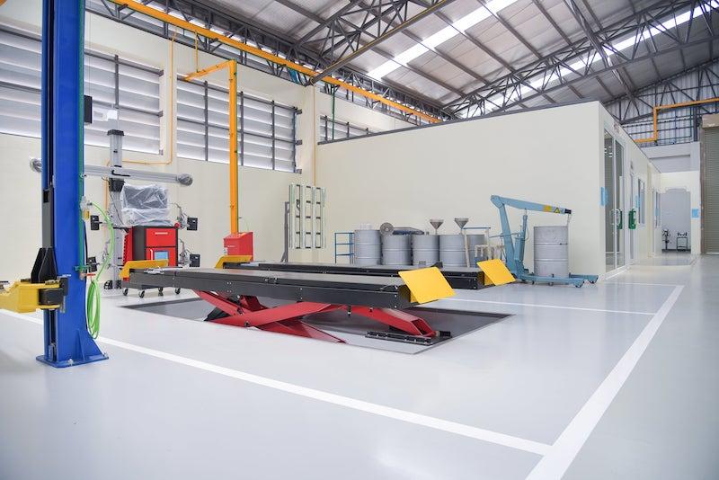 epoxyvloer in bedrijfshal