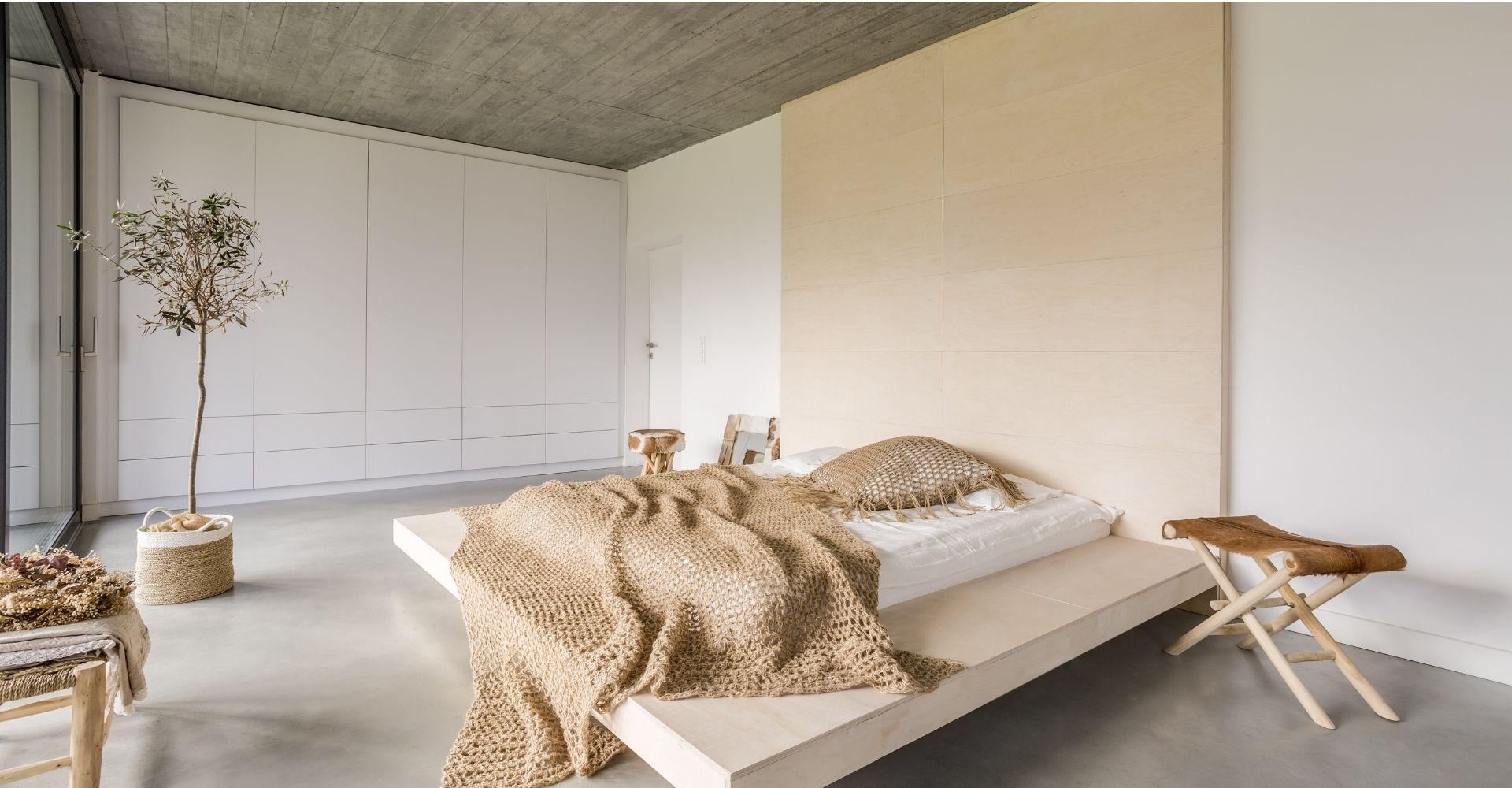Betonvloer slaapkamer