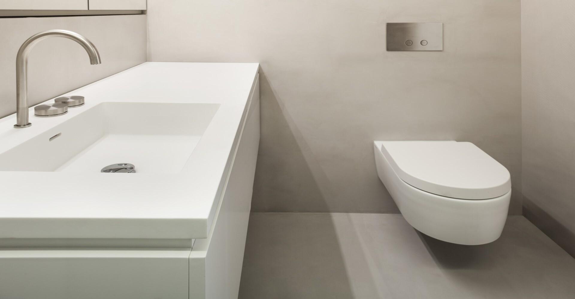 Betonvloer toilet