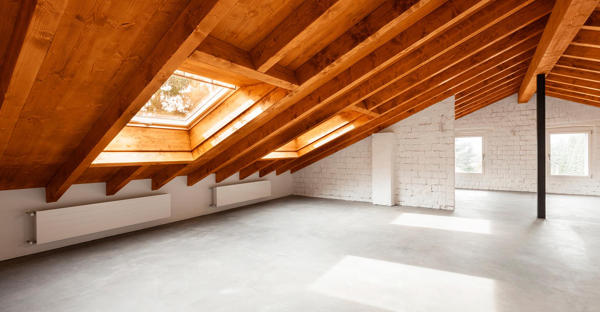 Betonvloer zolder