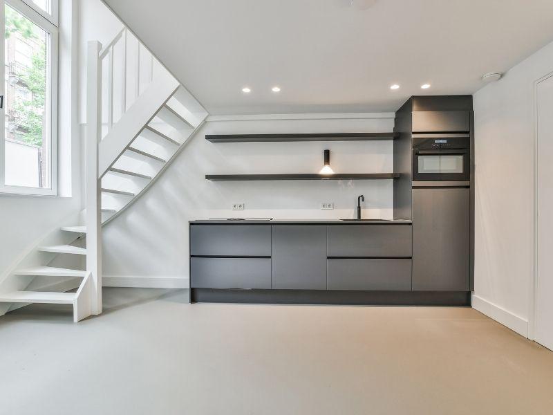 Gietvloer voor een appartement in Amsterdam